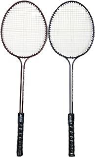 BODY MAXX Double-Shaft Steel Badminton Racquet - Set o 2 Pieces