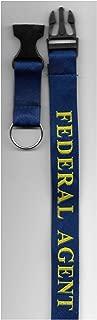 FEDERAL AGENT LANYARD Key Ring Holder. ID Card Police ATF, DEA, DHS, FBI, ICE