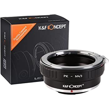 K&F Concept マウントアダプター Pentax K PKレンズ- Micro 4/3カメラ装着用 レンズマウントアダプター 無限遠実現 高精度 メーカー直営店