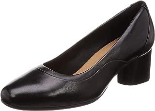Clarks Women's Un Cosmo Step Black Leather Pumps