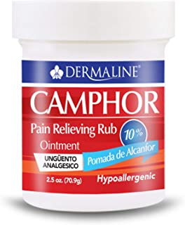 Dermaline - Camphor Ointment Pain Relieving Rub - Analgesic Ointment - Muscle Pain, Stiffness, Joint Pain -...