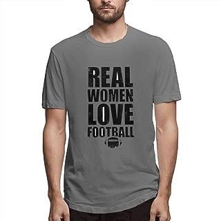 Real Women Love Football, Men's Full Printing Stylish Navy T Shirts Alliance,American Football Teams
