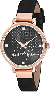 Daniel Klein Womens Quartz Watch, Analog Display and Leather Strap - DK12181-7