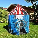 heimtexland Kinder Outdoor Pop up Spielzelt Pirat Ø100 cm Piratenschiff Burg Garten Spielhaus...