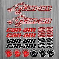 canamのBRPステッカークワッドATVデカール20個レーシングカービニールダイカットステッカーキットデカール車のステッカー車のスタイリング装飾車体のステッカーのためのcanam (red)