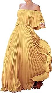 Eledobby Women Off Shoulder Prom Dresses Long Sweetheart Formal Ball Gown Elegant Summer Casual Dress Maxi