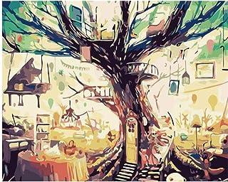 Superlucky Abstrakte Baum Landschaft Bilder Bilder Bilder Diy Malen