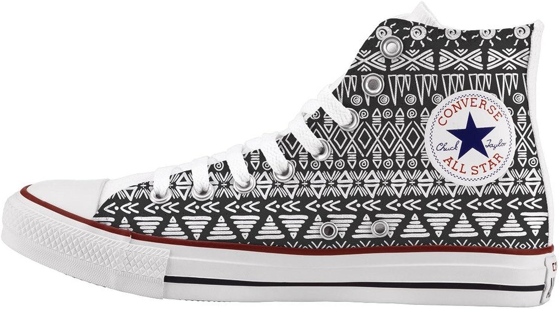 Converse All Star Personnalisé et imprimés - chaussures à la main - - Leave