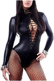 heymoney Womens Long Sleeve Zipper Bodycon Jumpsuit Romper Bodysuit