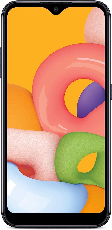 Total Wireless Samsung Galaxy A01 4G LTE Prepaid Smartphone - Black - 16GB - Sim Card Included -CDMA : Cell Phones & Accessories