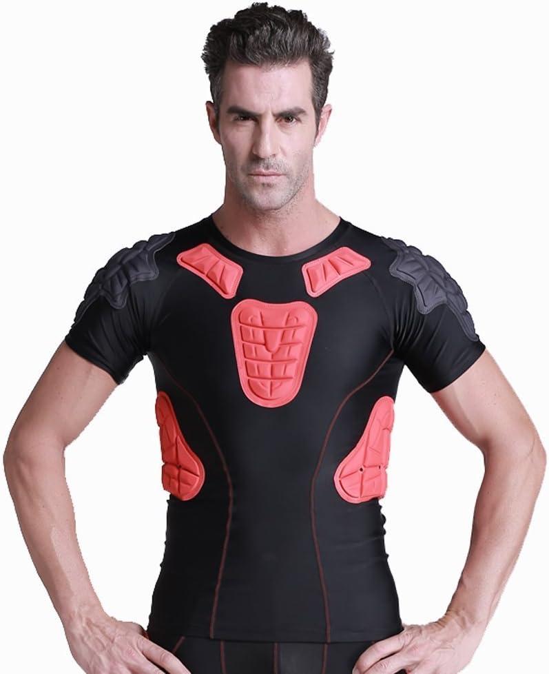 para Baloncesto,Paintball,Rugby,Parkour,Ejercicio Extremo REDSHORE Protector de f/útbol Acolchado para Hombre,Protector Seguro para el Cuerpo,Camisas de compresi/ón Acolchadas,Traje de Entrenamiento