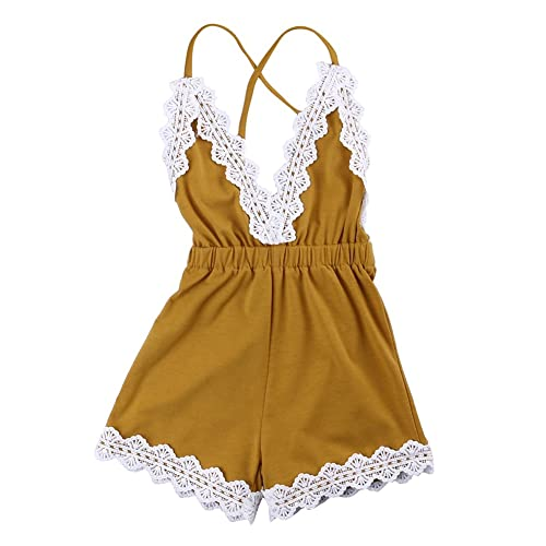 1fbc2e0cc46 MA BABY Baby Girls Halter One-Pieces Romper Jumpsuit Sunsuit Outfit Clothes  0-24M