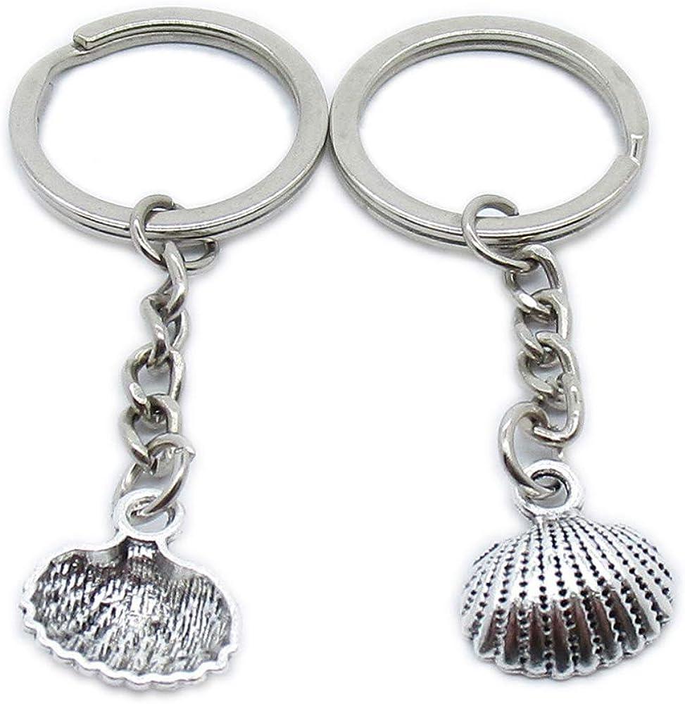 Max 43% OFF Antique Silver Plated Philadelphia Mall Keyrings Keychains QM6N7 Ring Ch Shell Key