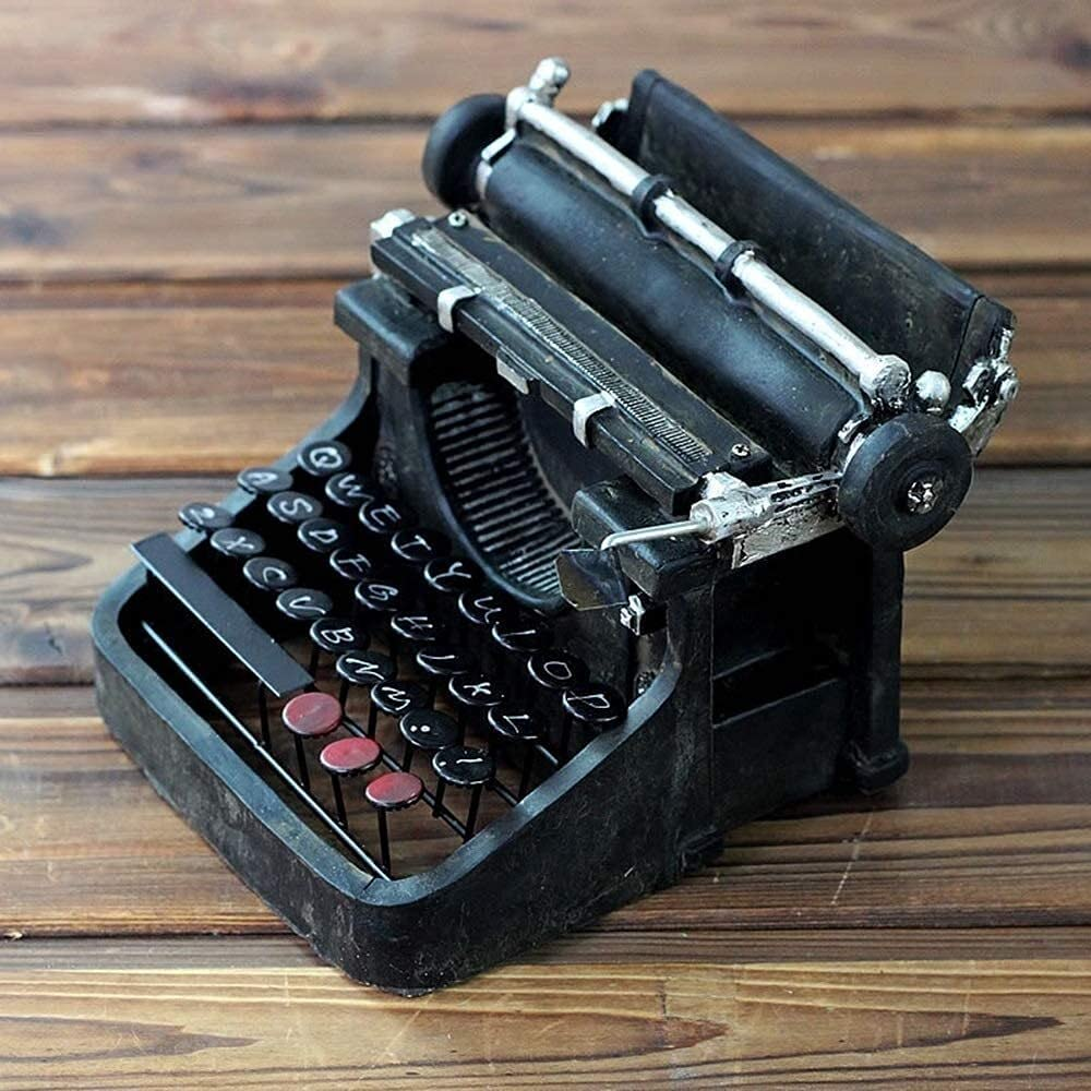 ZHCHL Creative Fees free Decoration Safety and trust Simulation Typewriter C Resin
