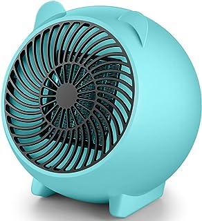 SAKURAM Mini Calefactor Cerámico Calefactor Eléctrico Cerámico con Termostato Oscilación Protección contra Volcado y Sobrecalentamiento para Cuarto Baño Oficina-Verde