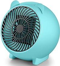 ZED- Mini Calefacdor Eléctrico, Calefactor Electrico de Aniones, Calefactor PTC, 250W Calefactor Ventilador Ceramico Portatil,Protección contra Sobrecalentamiento