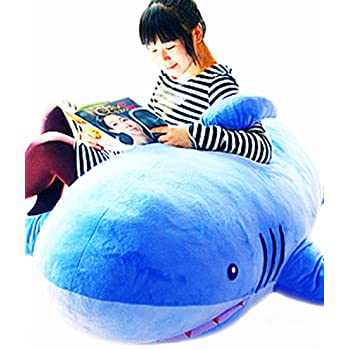 MILEE サメ ぬいぐるみ 特大 サメ shark 抱き枕/鮫ぬいぐるみ/子供プレゼント/お祝い/ふわふわぬいぐるみサメ (180cm)