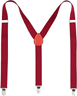 red Sevenfly Heart Shaped Women Suspender Y Shape with Strong Clips Adjustable Braces