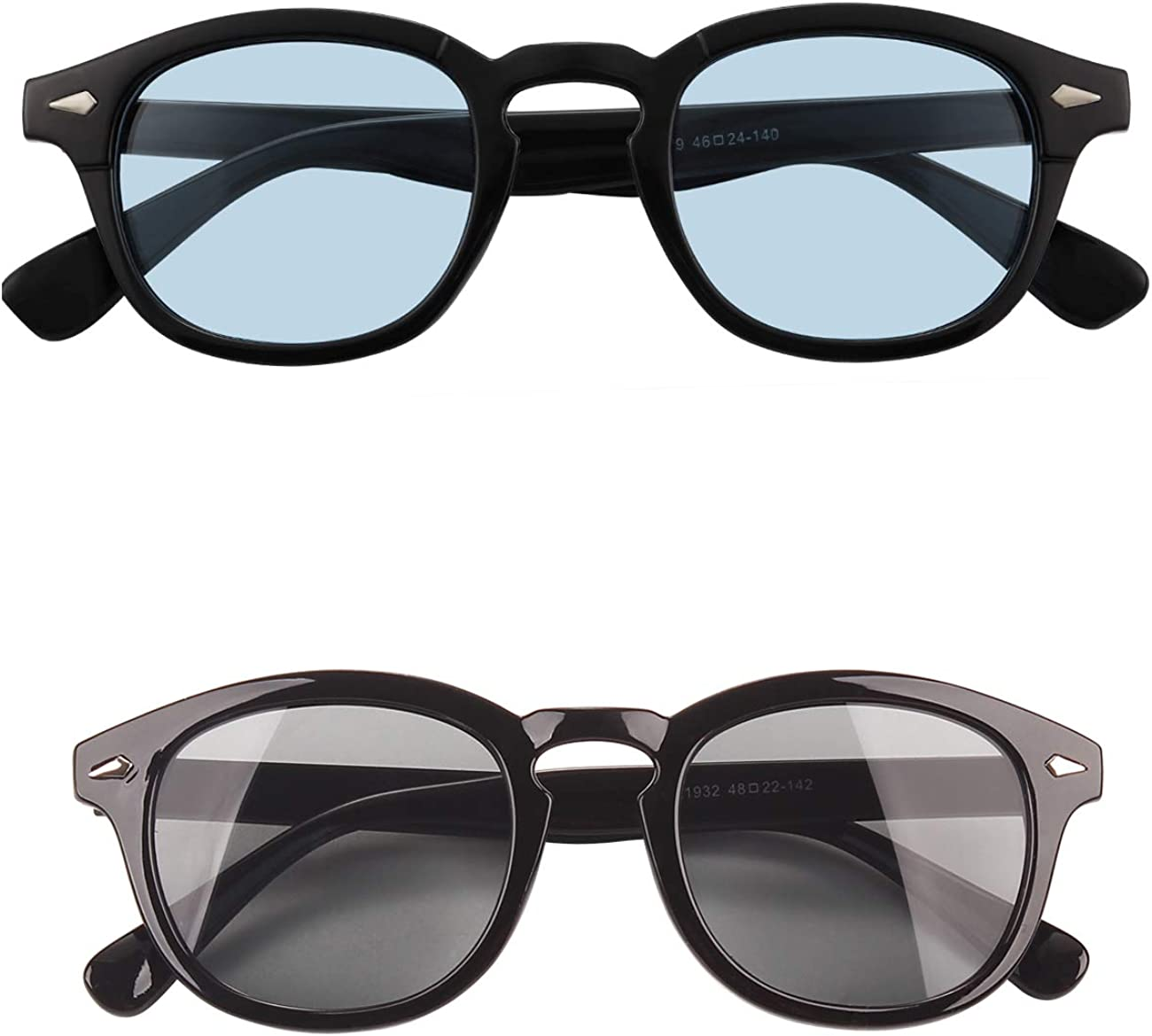 Free shipping / New Bestum Retro Inspired Sunglasses 2021 With UV400 Rivets Tinted Lens