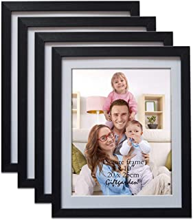 Giftgarden Black 8x10 Picture Frame Wall Decor for 8 by 10 Inch Photo, Set of