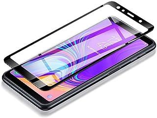 واقي شاشة زجاجي مقوى ثلاثي الابعاد لهاتف سامسونج جالكسي إيه 7 لعام 2018 تغطية كاملة للشاشة
