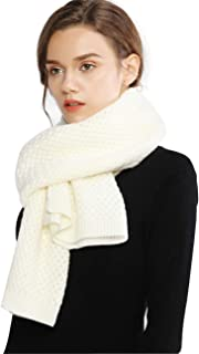 Chunky Knit Scarfs for Women Thick Cable Shawls Wrap Winter Soft Warm Long Large Solid Color Pashminas Stole