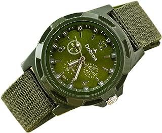 Men Women Fashion Sport Braided Canvas Belt Analog Wrist Watch Retro Exquisite Luxury Classic Bracelet Watches Casual Business Watch