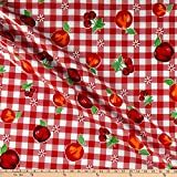 Oil Cloth International 0665467 Oilcloth Riverside Red