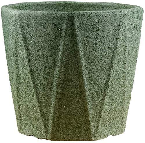 Flowerpot Octagonal Matte Keramik Blumenständer mit Plastikbehältern Pflanzenschale Pflanzenkübel im Freien Innen (Farbe: Mattblau, Größe: Übergröße) Pflanzkübel-Keramik, geeignet für Schlafzimmer off