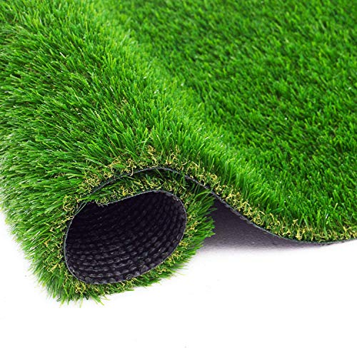BEAUTYFLOWER Artificial Grass Rug , 4 Tone Realistic Indoor Outdoor Garden Lawn Landscape Patio Synthetic Turf Mat Synthetic Turf Mat for Dogs Cats Pets (17 in x 24 in = 2.84 sq ft)