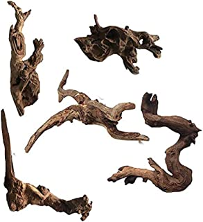Hamiledyi 5 Pack Aquarium Driftwood Natural Wood Driftwood Branches Reptiles Aquarium Decoration Assorted