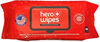 "Hero Wipes Body Wipes Single Pack Containing 48 Extra Thick Durable 10x9"" Wipes Remove 98% Of Carcinogens Removes Soot, Sm..."
