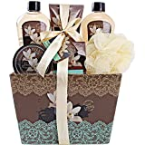 """Spa Basket for Women w/Refreshing """"Seductive Vanilla"""" Fragrance by Draizee- #1 Best Gift for Valentine – Luxury Bath & Body Set Includes 100% Natural Cream's Lotion's & Much More!"""