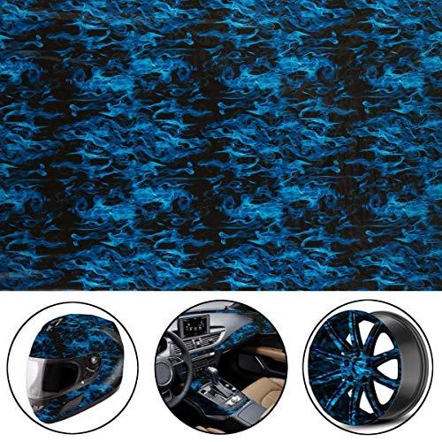 L.J.JZDY Wassertransferfolie 50 x 150 cm PVA Hydrographischer Film Wassertransferdruck Film Hydro Dip Stil Aufkleber Aufkleber blau