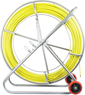 ECO-WORTHY Fish Tape Fiberglass Reel Wire Cable Running Rod Duct Fish Tape Puller (8MM 853FT)