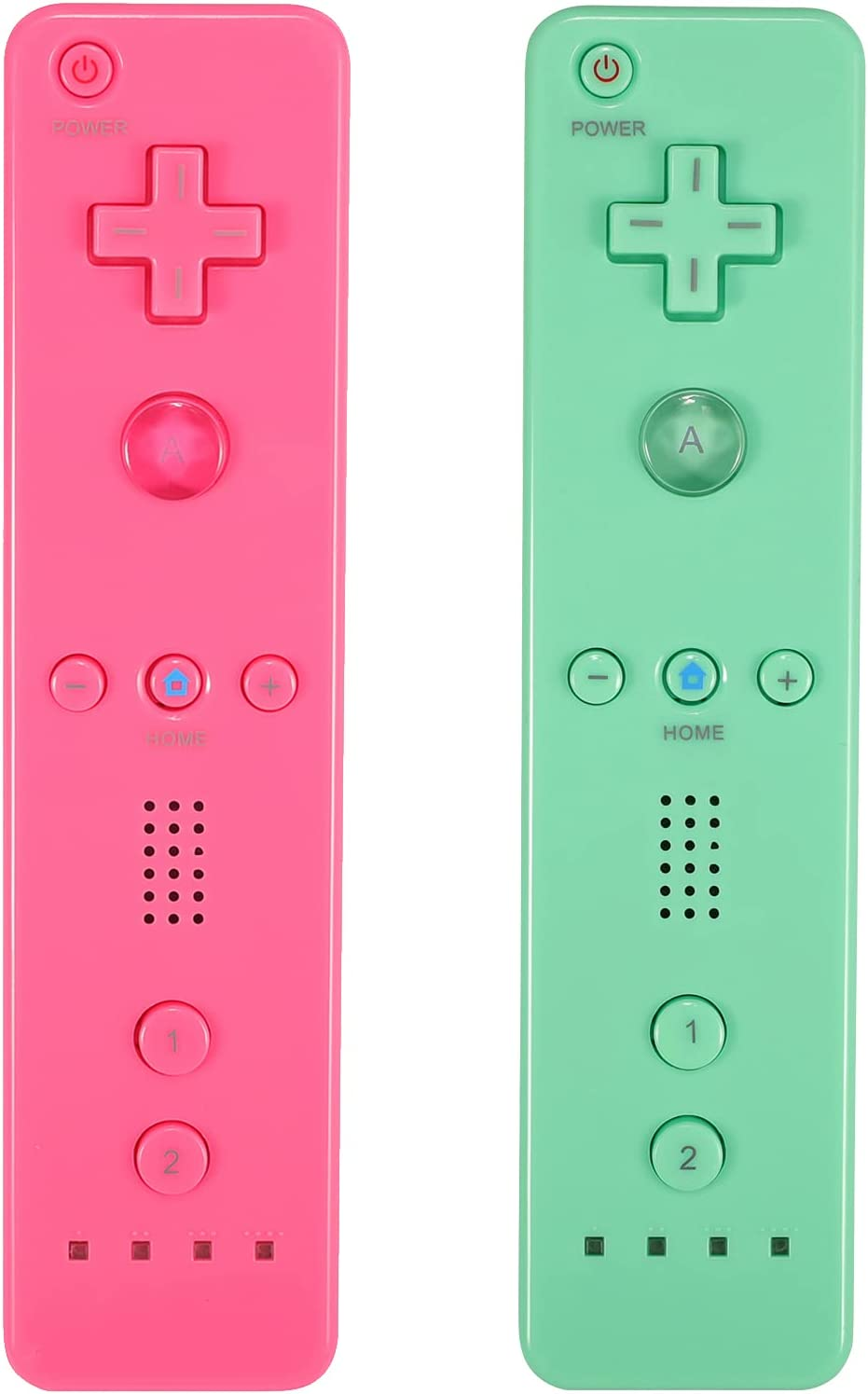 Yosikr Wireless Remote Controller for Wii Green Factory outlet - Cash special price Packs 2 U