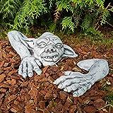 Gartendeko Figur niedlicher Kobold Yoda Steinfigur frostfest Handmade klein Gartenfiguren Deko für...