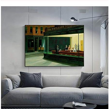 Moderne Wohnzimmer Wohnkultur /Ölgem/älde Wandkunst Bild Nordic Landschaft Drucke Ungerahmt, 20x30cm QWEWQE Druck auf Leinwandbilder Edward Hopper Leuchtturm wandbild und Poster