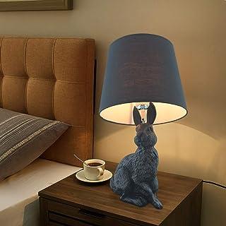 Lampe de Table Lampe de Table Lapin Animal/Chambre en résine créative Chambre d'enfants htel Blanc Lampe de Table Dessin a...
