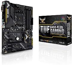 ASUS TUF B450-PLUS Gaming AMD AM4 (3rd/2nd/1st Gen Ryzen ATX Gaming Motherboard(Digi+VRM, HDMI 2.0b,USB 3.1 Gen 2, Pre-Mou...