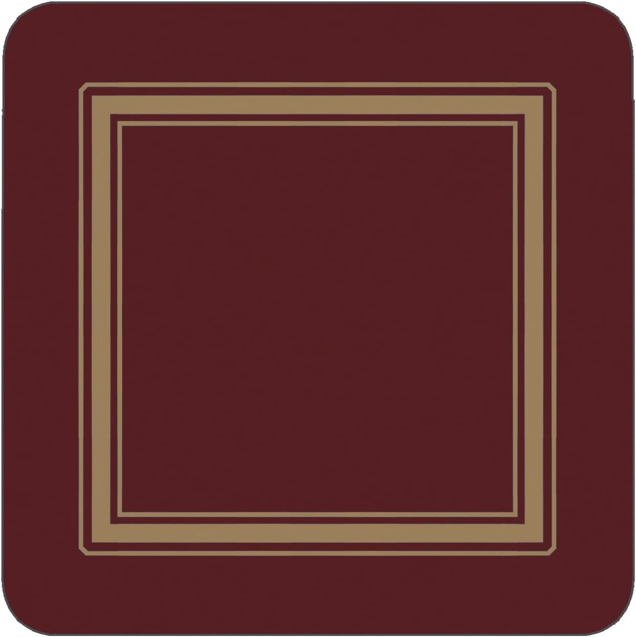 Pimpernel Great interest Bombing free shipping Classic Burgundy Coasters 6 - Set of