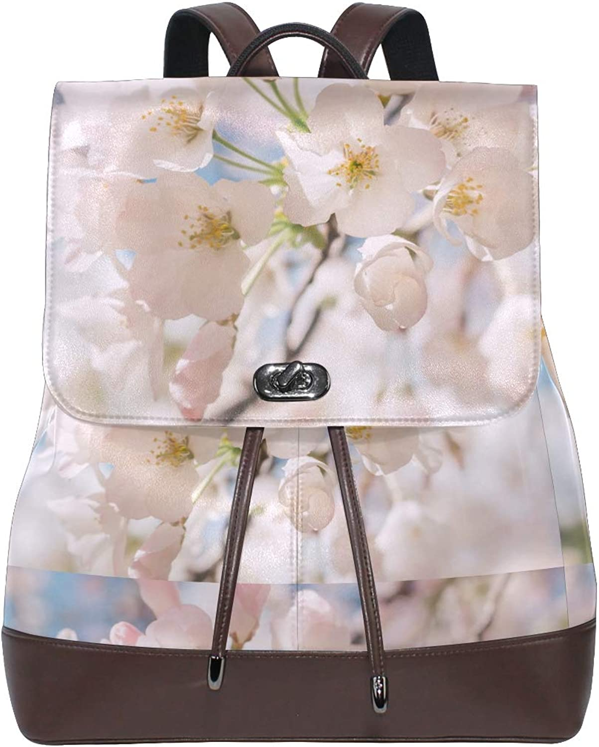 FAJRO Adorable Pretty SakuraTravel Backpack Leather Handbag School Pack