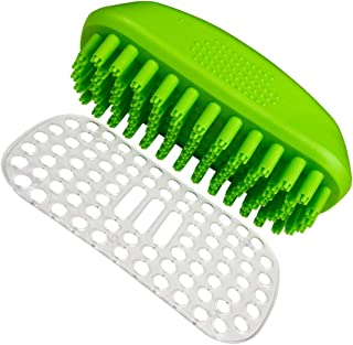 Pet Bath Massage Brush Great Grooming Tool for Shampoon and Massage Dogs and Cats with Short or Long Hair Rubber Clean Bru...
