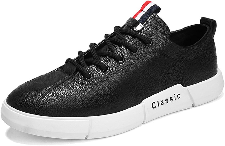 QIDI Casual shoes Male Microfiber Flat Wild Non-slip Pure color Single shoes (color   BLACK, Size   EU39 UK6.5)