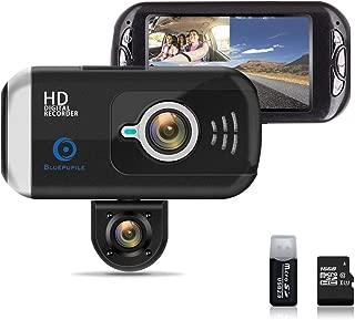 BLUEPUPILE Dash Cam 1080P Dual Lens Dashboard Camera Recorder 170° Wide Angle Lens 3