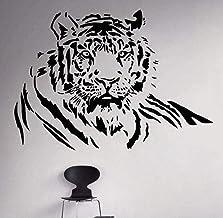 Arte de pared pegatinas decoración del hogar Sala Den PVC Vinilo Paster desmontable Mural Tigre 58x42cm Moda Papel pintado...