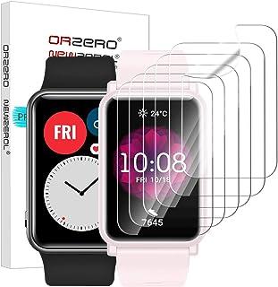 NEWZEROL 6 sztuk kompatybilnych z Huawei Watch Fit/Honor Watch ES folia ochronna na wyświetlacz [etui przyjazne dla środow...