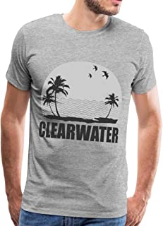 Clearwater Beach with Palm Trees Men`s Premium T-Shirt