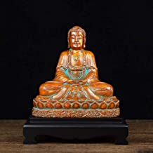 Collection Shakyamuni Buddha Statue,Meditating Sitting Buddha Ornamental,Buddha Collectible Figurine Home Decoration-Brown...