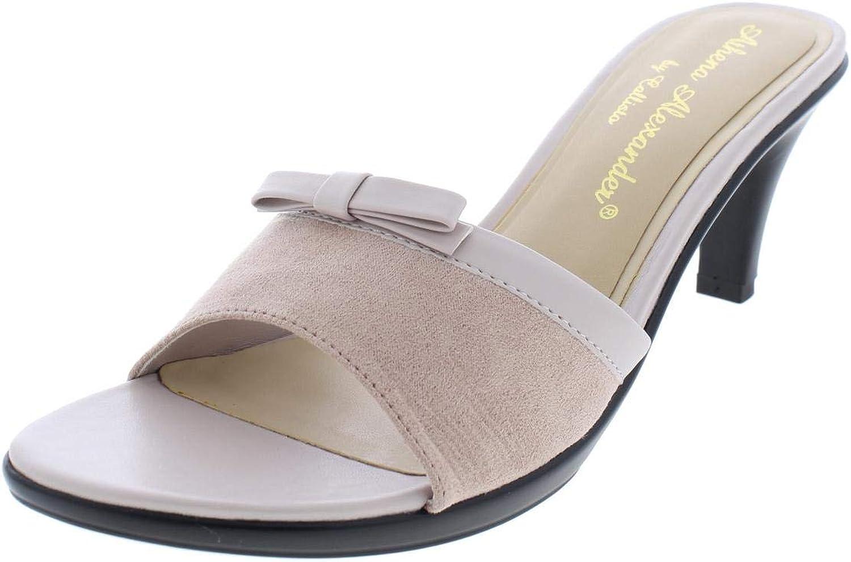 Athena Alexander Womens Dot Faux Leather Open Toe Dress Sandals